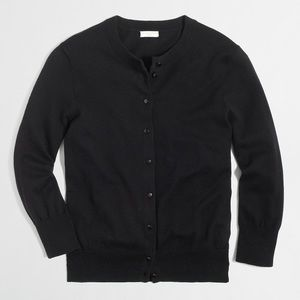 J. Crew Factory Clare black cardigan sweater